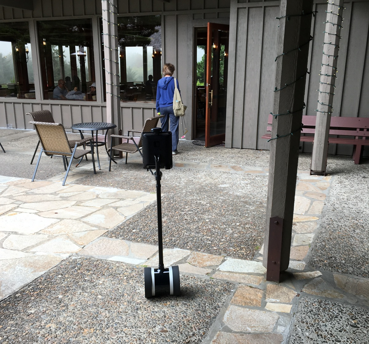 Double 2 telepresence robot at hotel