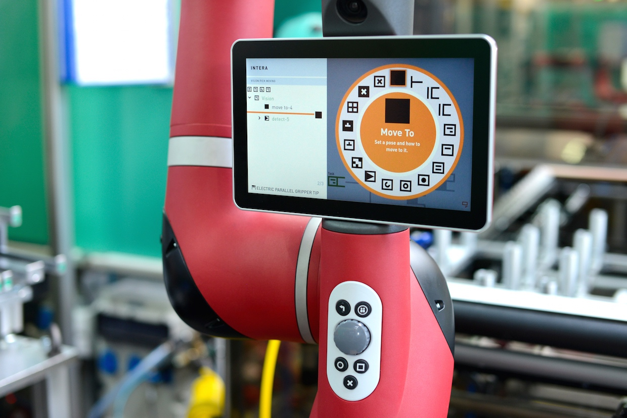 Rethink Robotics Sawyer robot with Intera 5 software platform