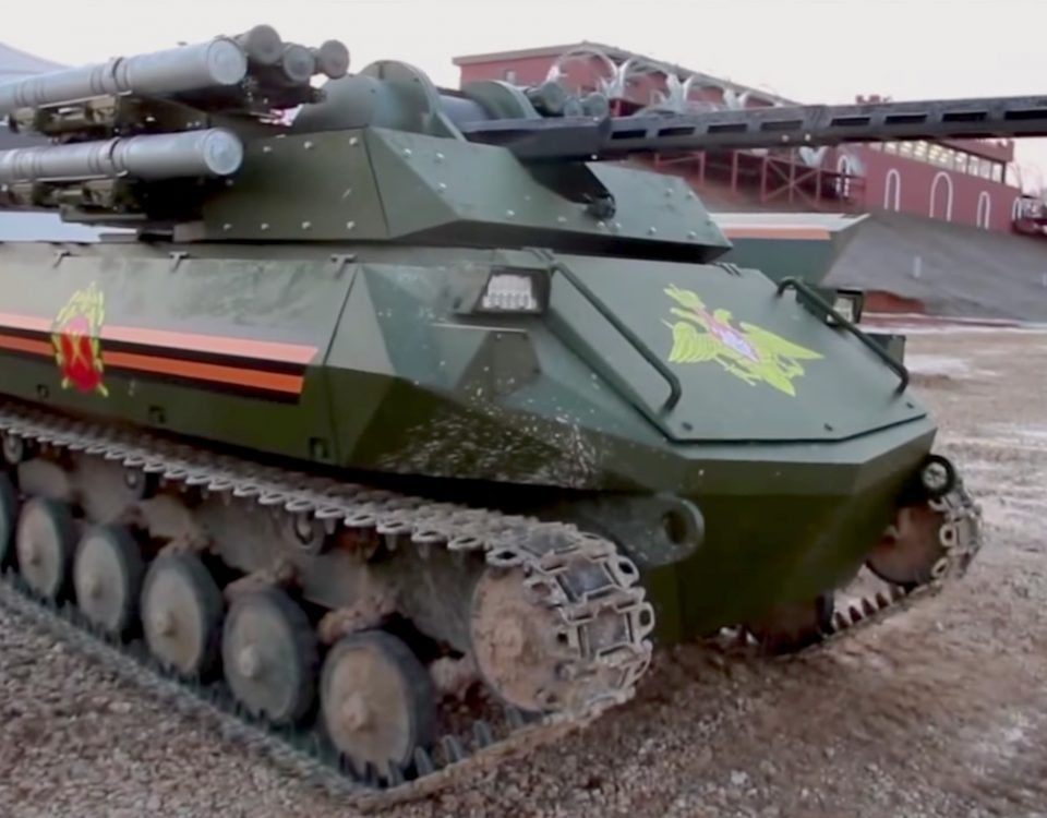 Russia Uran-9 unmanned tank v2-1481762383084