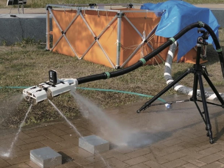 Firefighting snake robot
