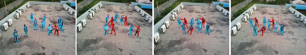 The Drone Surveillance System witnesses a variety of violent behaviors.