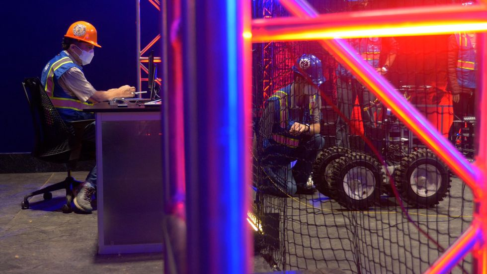 Robot operator at the DARPA SubT Finals